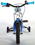 Volare Thombike White Blue 12 Inch Jongensfiets 95% afgemonteerd - 91204_