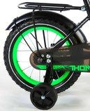 Volare Thombike Satin Black Green 14 Inch Jongensfiets 95% afgemonteerd - 91403_