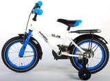 Volare Thombike White Blue 14 Inch Jongensfiets 95% afgemonteerd - 91404_