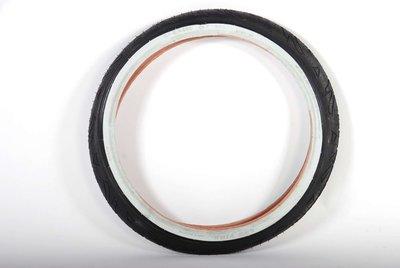 Buitenband 20 x 2.125 zwart met witte wand
