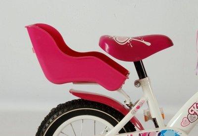 Poppenzitje Roze voor 16 - 18 inch fietsjes - 655