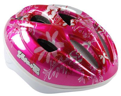 Volare Fiets-Skatehelm Deluxe Roze Vlinder