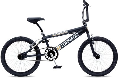 Tornado Freestyle bike lux mat zwart/zilver-zwarte parts