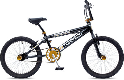 Tornado Freestyle bike lux glimmend zwart/gouden parts