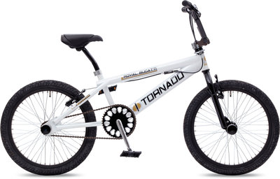 Tornado Freestyle bike lux glimmend wit/zilver-zwart part