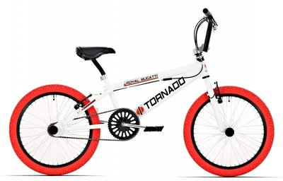 Tornado Freestyle bike lux wit (rode banden)