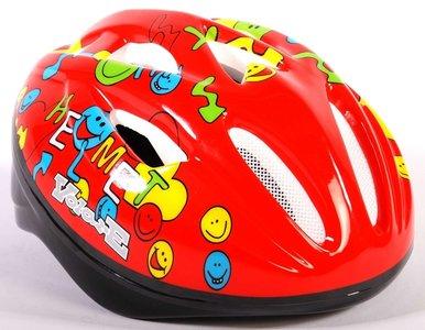Volare Fiets-Skatehelm Deluxe Smileys rood