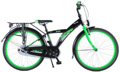 Volare Thombike City Shimano Nexus 3 24 Inch Jongensfiets Satin Black Green 95% afgemonteerd - 82440